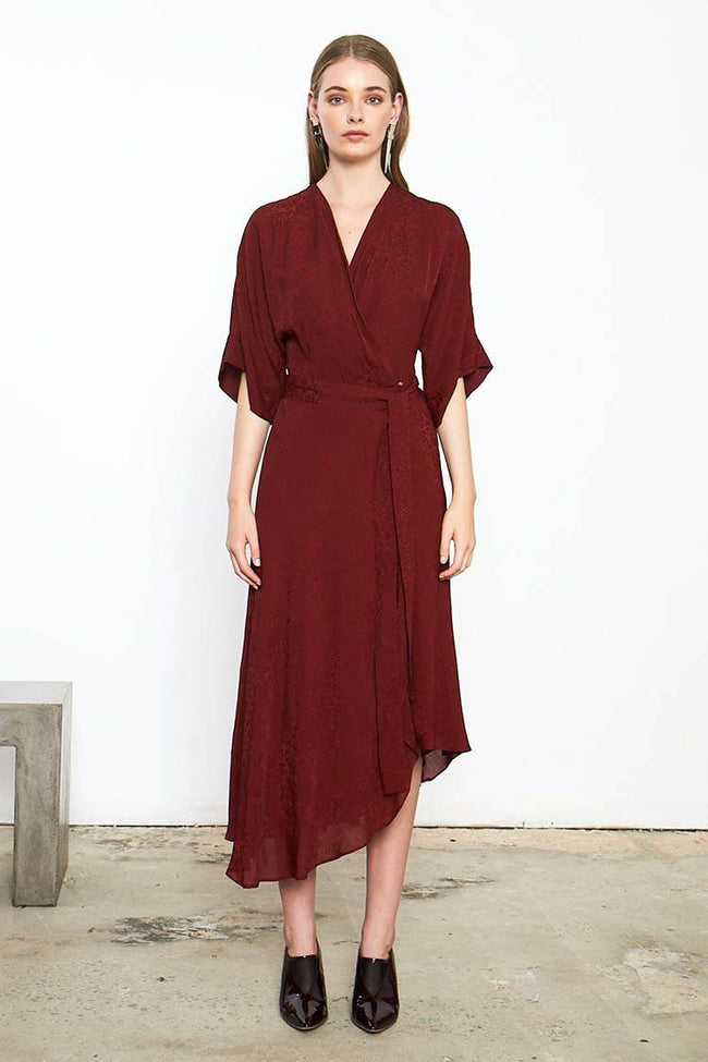 Panacea Wrap Dress in Rust