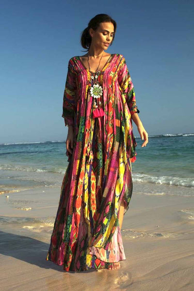 Hailey Kaftan in Multi Dresses Miss June