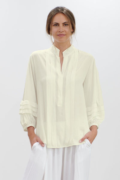 Harmony Blouse in Chalk Tops Mela Purdie
