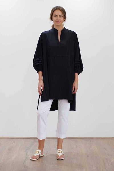 Harmony Tunic in Black Tops Mela Purdie