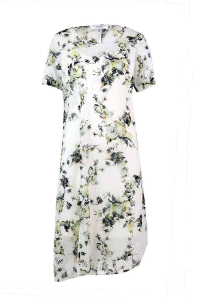 Heavenly Dress w Slip in Ivory Floral Dresses Verge