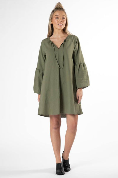Hilda Dress in Mossgreen Dresses SASS