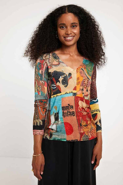 Hindu Knit Jumper Tops Desigual