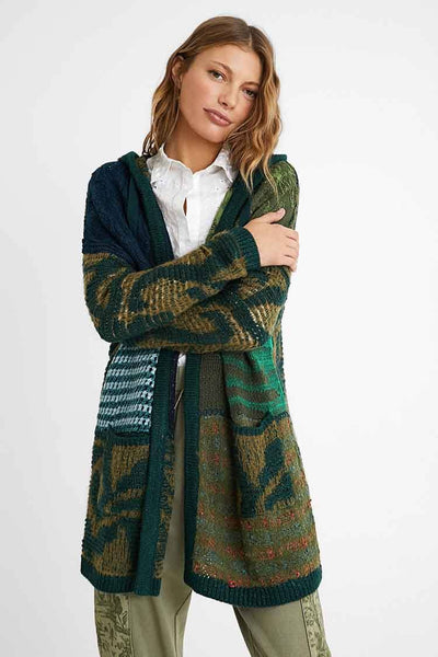 Hooded Patch Open Cardi Jackets & Outerwear Desigual