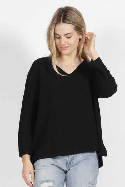 Imdie Knit in Black Tops SASS