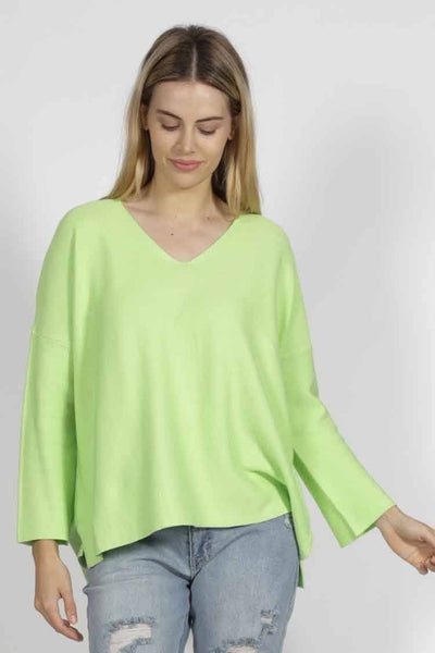 Imdie Knit in Neon Apple Tops SASS