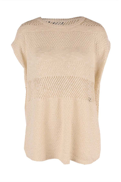 Ivory Knit Tunic Top Tops Press