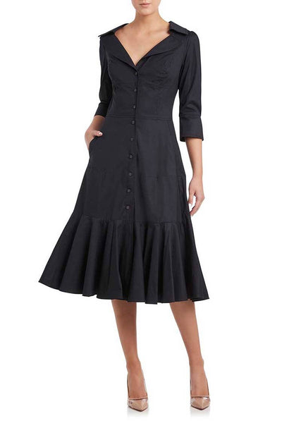 Janice Shirt Dress in Ink Dresses Moss & Spy