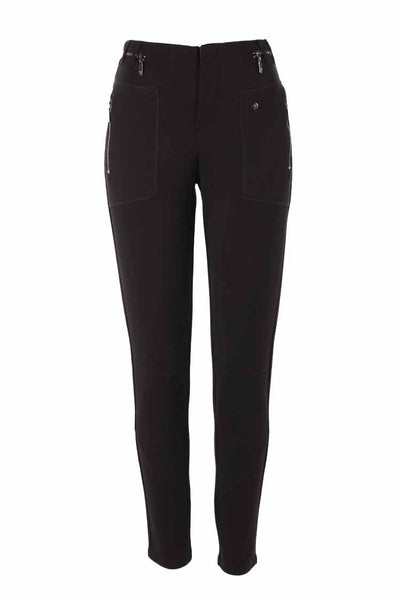 Jersey Rib Pants in Black Bottoms Monari