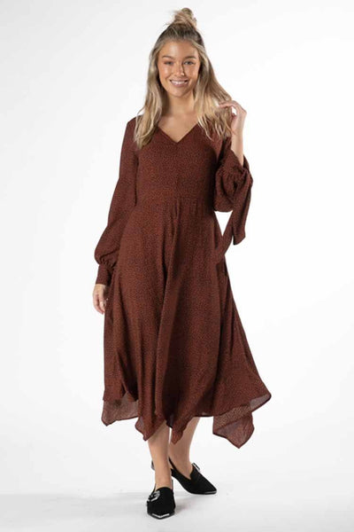 Jocey Dress in Rosewood Animal Dresses SASS