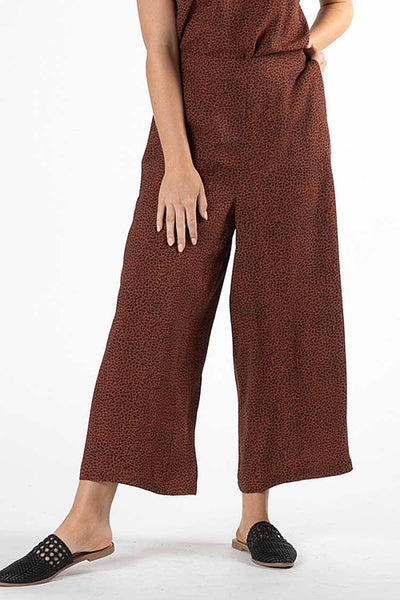 Jocey Pant in Rosewood Animal Print Bottoms SASS