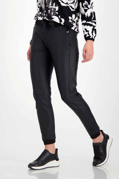 Jogger Pants in Leather Look Bottoms Monari