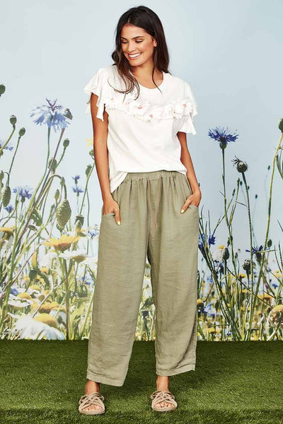 Just Relax Pant in Sage Bottoms Coop