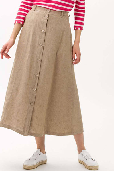 Kelly Linen Skirt in Dessert Bottoms Brax