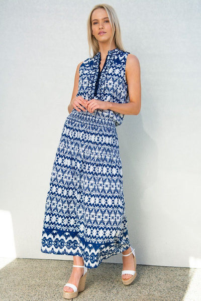 Ruby Maxi Dress in Apple Navy Dresses Lola Australia