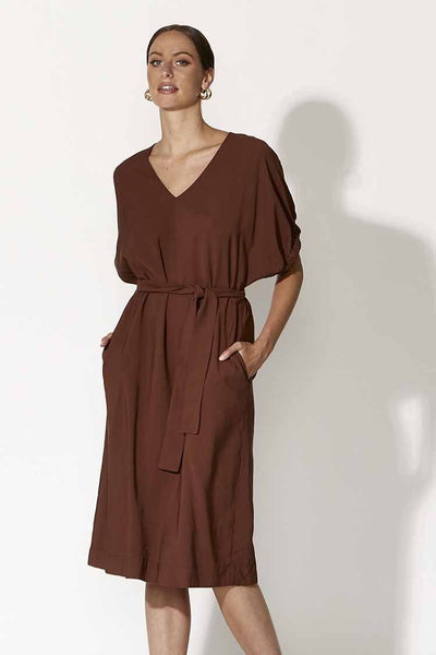 L'atalante Dress in Umber Dresses Fate + Becker