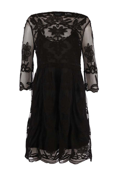 Lace Dress in Black Tops Press