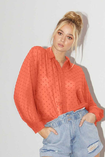 Lacey Top in Sunset Tops SASS