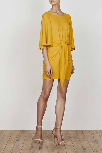 Lautner Flutter Sleeve Tie Front Dress Dresses Shona Joy