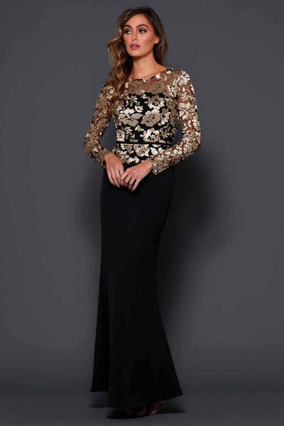 Leah in Black Gold Dresses Elle Zeitoune
