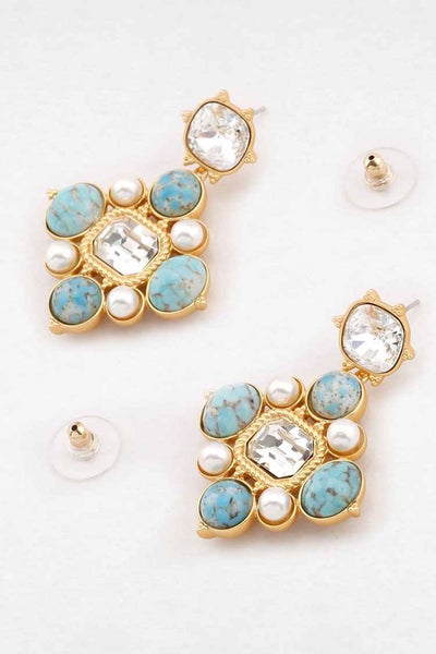 Leo Earring in Turquoise Accessories Peter Lang