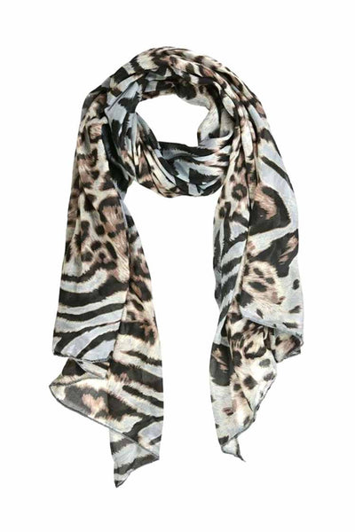 Lightweight Scarf in Leo Print Accessories Monari