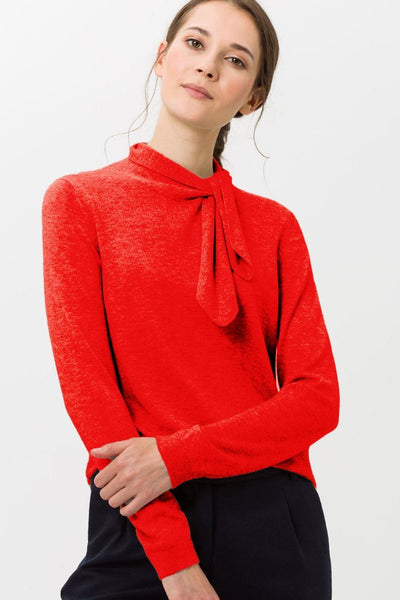 Liz Knitted Sweater in Red Tops Brax
