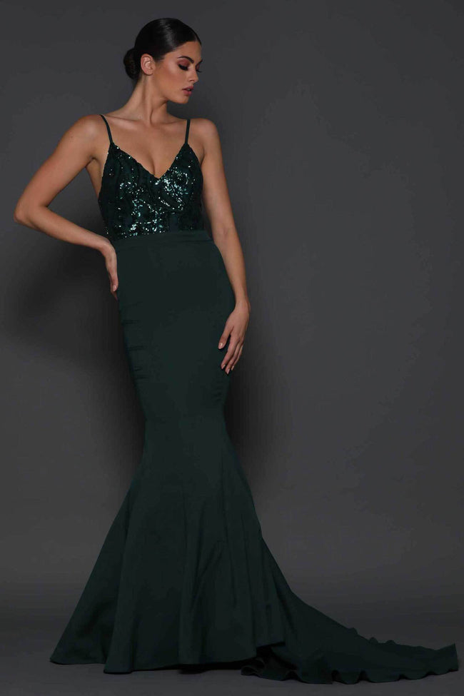 Shop Online Lola in Deep Green by Elle Zeitoune  Frockaholics Dresses