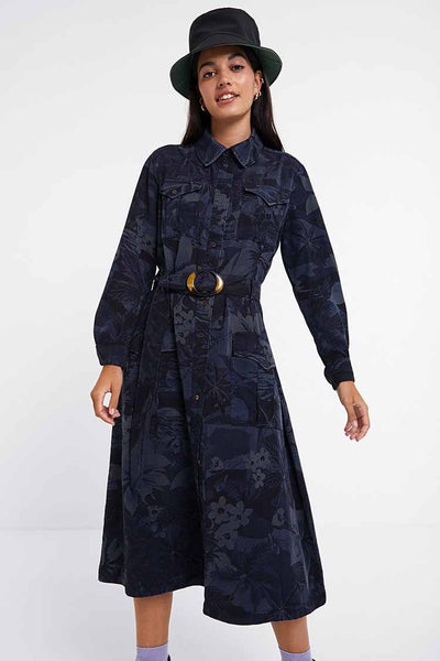 Long Flared Shirt Dress Dresses Desigual