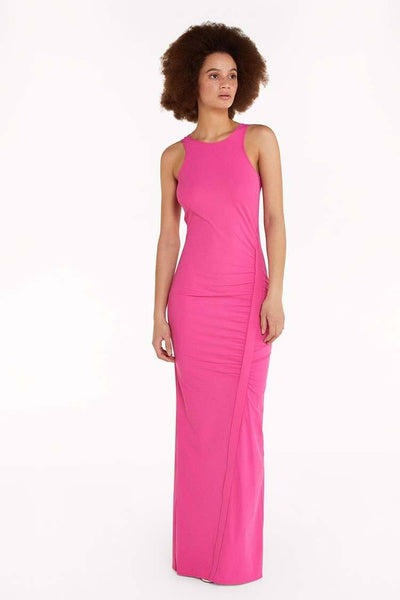 Long Sleeveless Dress in Orchid Dresses Patrizia Pepe