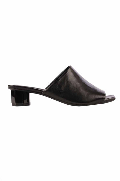 Low Heel Slide in Nero Shoes Bruno Premi