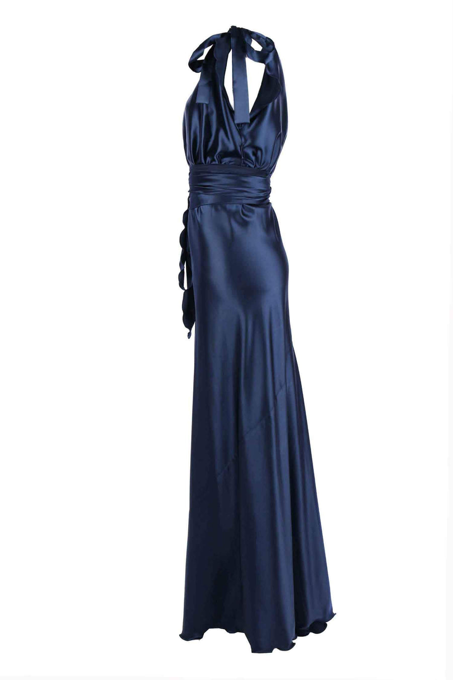 Shop Online Serena in Navy Poly Satin by Lucy Laurita - Leiela  Frockaholics Dresses