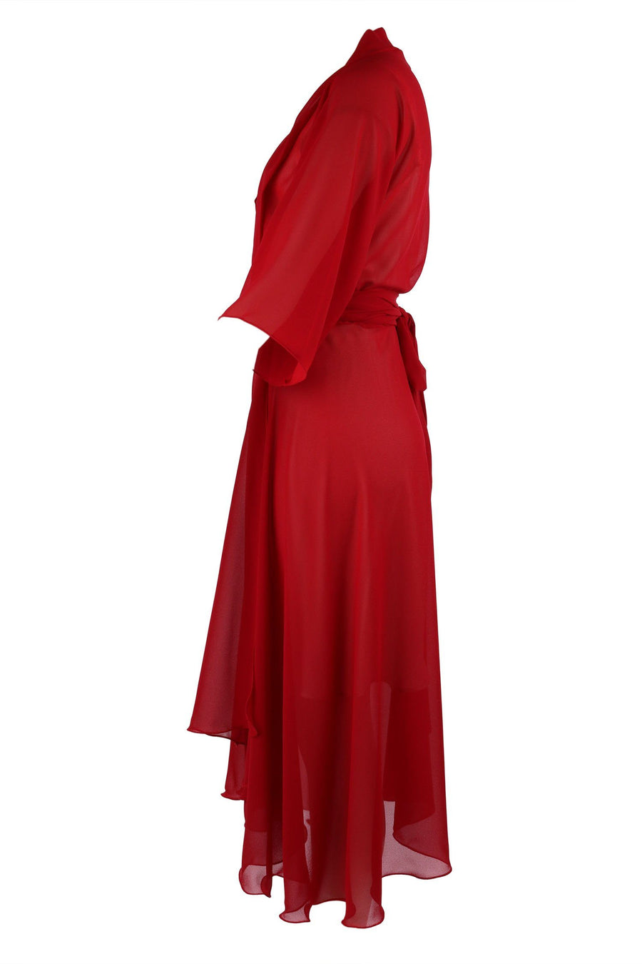 Shop Online Bella Wrap in Red With Silk Slip by Lucy Laurita - Leiela  Frockaholics Dresses
