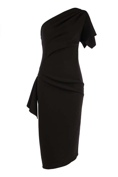 Lula Midi Dress in Black Dresses Eileen Kirby