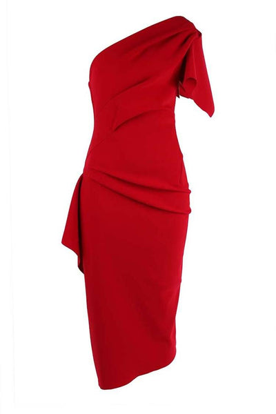 Lula Midi Dress in Red Dresses Eileen Kirby