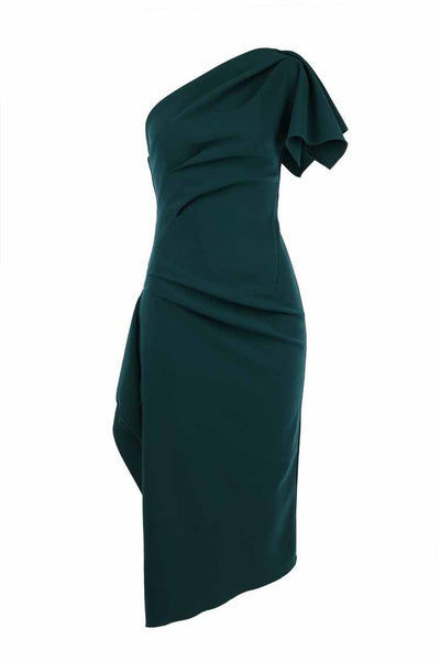 Lula Midi Dress in Dark Teal Dresses Eileen Kirby