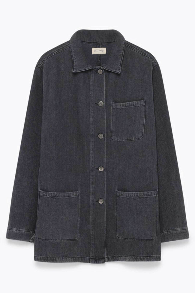 Mackmann L/S Shirt in Mid Black Dusty