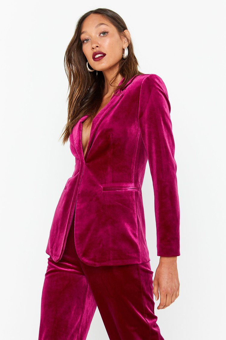 The Jagger Blazer in Berry