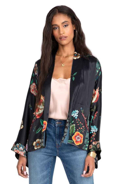Maggie Reversible Crop Kimono Jackets & Outerwear Johnny Was