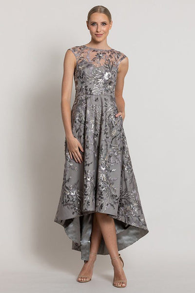 Maidson High Neck Dress in Dove Dresses Bariano