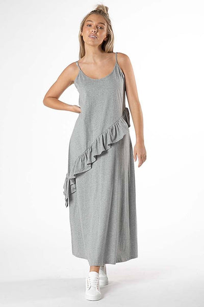 Maisey Ruffle Dress in Grey Dresses SASS