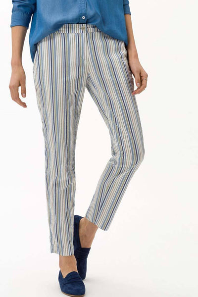Maron Pants in Blue Stripes Bottoms Brax