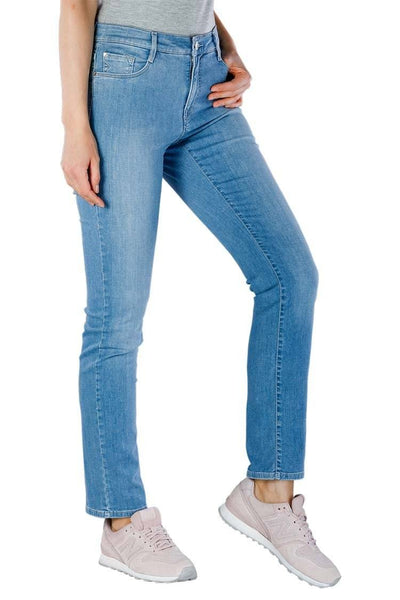 Mary Slim Jeans in Used Light Blue Bottoms Brax