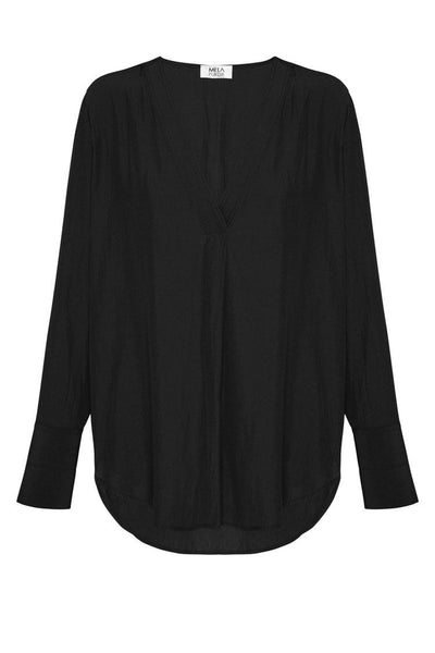 Chevron Top in Black Tops Mela Purdie