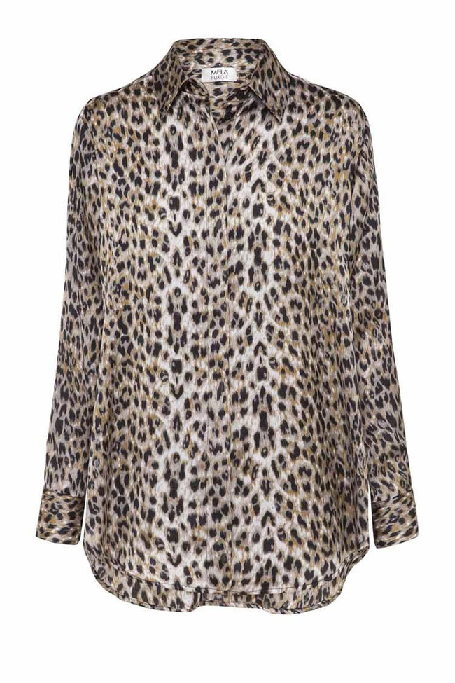 Soft Shirt in Fog Leopard