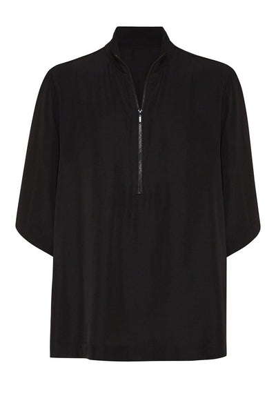 Zip Funnel Top in Black Tops Mela Purdie