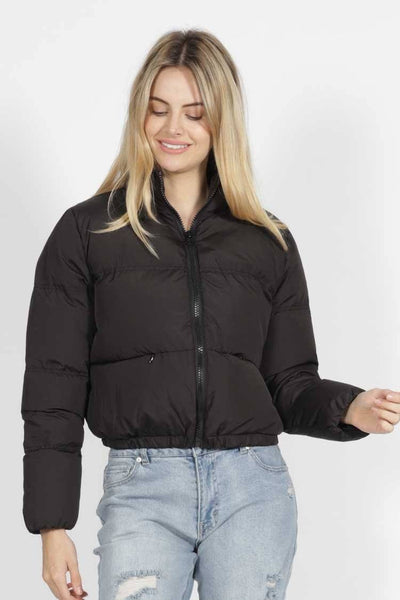 Meline Puffer Jacket in Black Jackets & Outerwear SASS