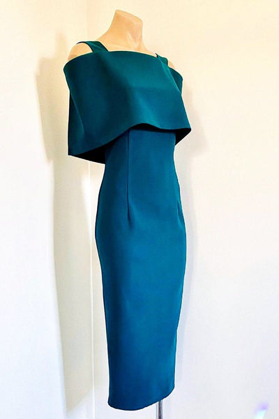 Kerby Midi Dress in Dark Teal Dresses Eileen Kirby