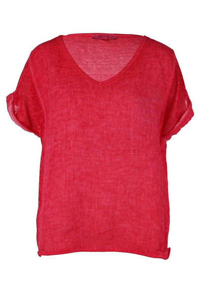 Mila Tee in Fragola Tops So French So Chic