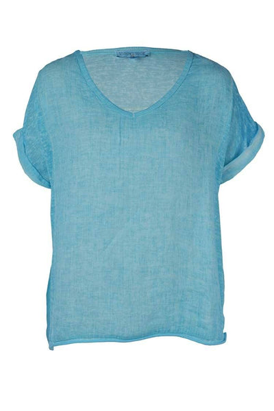 Mila Tee in Turquoise Tops So French So Chic